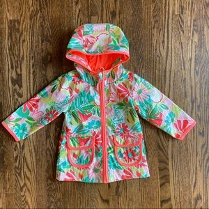 Cat and jack floral jersey lined raincoat